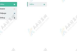 纯CSS3实现多彩带图标简单下拉菜单