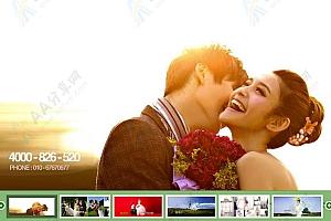 婚纱摄影网站宽屏图片幻灯片轮播切换效果代码