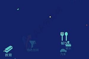 动画悬浮图标菜单特效代码