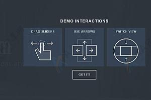 全屏图文幻灯片式多功能支持上下左右拖拽切换js特效插件