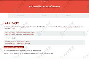 纯CSS实现响应式Tab选项卡切换效果