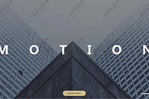 HTML5炫酷图片异形分割视差特效动画js效果