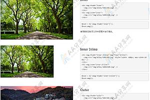 jQuery响应式图片放大镜特效插件下载