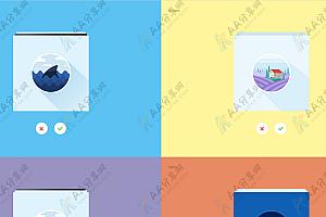 响应式堆叠图片相册炫酷动画3D切换特效代码