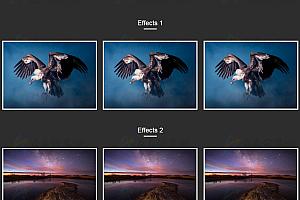 CSS3鼠标滑过图片炫酷动画特效