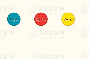 纯CSS3按钮旋转特效动画代码