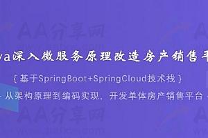 Java深入微服务原理改造房产销售平台