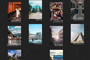 纯CSS实现联排多排图片上下来回滚动轮播特效代码
