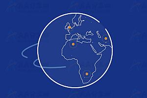 HTML5 SVG世界各地地球旋转动画特效