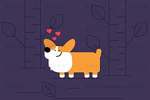 纯CSS3基于SVG绘制的卡通可爱表白小狗动画特效