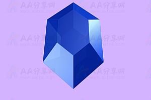 璀璨夺目炫酷蓝宝石3D动态闪亮展示HTML5 Canvas特效动画代码