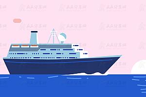 HTML5超级漂亮的海洋中行驶的轮船SVG绘制动画特效