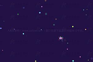 多彩炫酷气泡粒子跟随鼠标滑动canvas特效动画背景