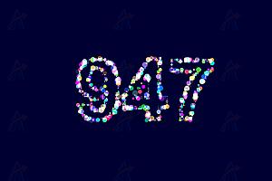 多彩炫酷数字粒子canvas特效动画代码
