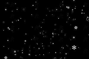 创意炫酷圣诞雪花气泡夹杂飘落带视差特效动画效果