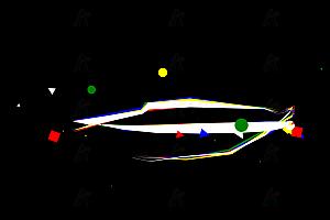 HTML5鼠标跟随经过炫酷线条彩带SVG特效动画
