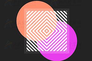 纯CSS3实现艺术条纹特效动画代码