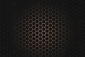 多彩蜂窝状六边形发光霓虹灯canvas特效背景动画