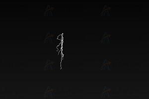 模拟雷鸣闪电逼真场景特效canvas动画