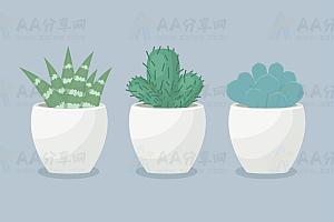 HTML5 SVG绘制植物盆栽特效动画代码