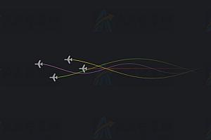 飞机动态线性规律飞行canvas动画