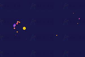 跟随鼠标晃动多彩火焰球canvas特效动画
