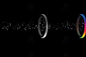 动态光源发散多彩光束SVG特效动画