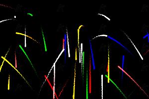 鼠标点击多彩火焰喷射canvas特效动画