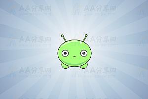 可爱青蛙悬浮空中动态动画背景js效果