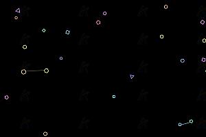 原生js实现多彩动态多边形相互吸引磁场粒子canvas动画