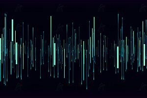 多彩垂直柱状线性线条粒子跟随鼠标晃动canvas动画