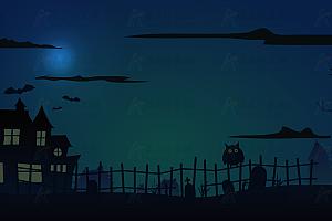 HTML5+SVG绘制暗黑深夜鼠标经过手电筒照亮js效果