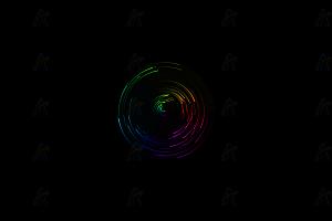 多彩线条粒子仿雷达扫描canvas特效动画