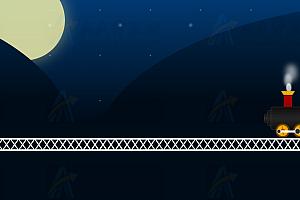 纯CSS实现动态火车夜间运行卡通动画特效