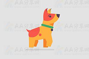 纯CSS实现动态行走可爱狗狗特效动画