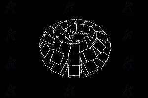 动态循环多边形立体方块canvas特效动画
