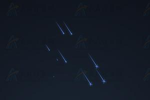 蓝色流星雨划过夜空绚丽效果CSS特效动画