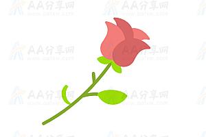 HTML5+SVG动态绘制鲜花js特效动画