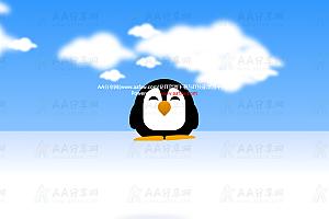纯CSS实现憨态可掬动态企鹅特效动画