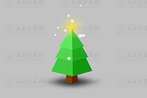 发光圣诞树动态旋转CSS特效动画