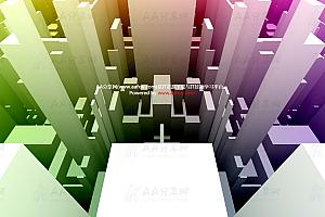 城市建筑楼群3D动态演示canvas特效动画代码