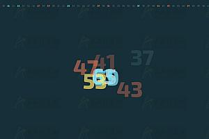 多彩数字动态递增炫酷背景墙jQuery特效插件