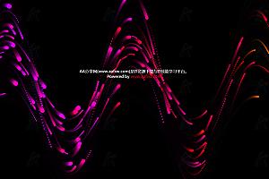 波浪形动态流动多彩粒子线条canvas动画