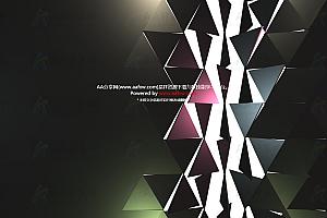 超级炫酷金属质感三角形跟随鼠标轨迹翻转js特效动画