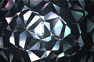 炫酷多彩金属质感动态多边形js动画背景