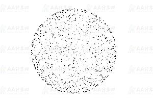 黑色线性粒子构图3D立体动态旋转球体canvas动画