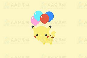纯CSS实现可爱比卡丘气球漂浮空中特效动画