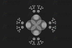 鼠标经过图案动态变幻canvas特效动画