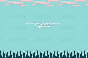 创意SVG绘制动态卡通折纸风机蓝天白云草地特效背景动画