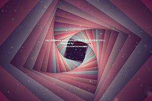 动态炫酷浩渺旋转宇宙空间万花筒效果js特效动画背景